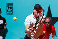 Kyle Edmund of Great Britain in action during the Mutua Madrid Open 2018, tennis match on May 10, 2018 played at Caja Magica in Madrid, Spain - Photo Oscar J Barroso / SpainProSportsImages / DPPI / ProSportsImages / DPPI