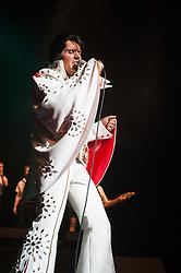 Rob Kingsley Elvis Preslet Tribute Artist A Vision of Elvis On Tour Bristol Hippodrome<br /> <br /> 07 April 2014<br /> <br /> Image © Paul David Drabble <br /> <br /> www.pauldaviddrabble.co.uk