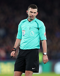 Match referee Michael Oliver during the Premier League match at Selhurst Park, London, Thursday 28th December 2017