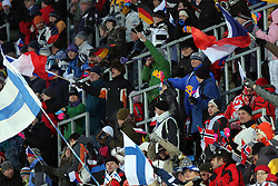 Finish Fans at Normal Hill Individual Ski jumps at FIS Nordic World Ski Championships Liberec 2008, on February 21, 2009, in Jested, Liberec, Czech Republic. (Photo by Vid Ponikvar / Sportida)