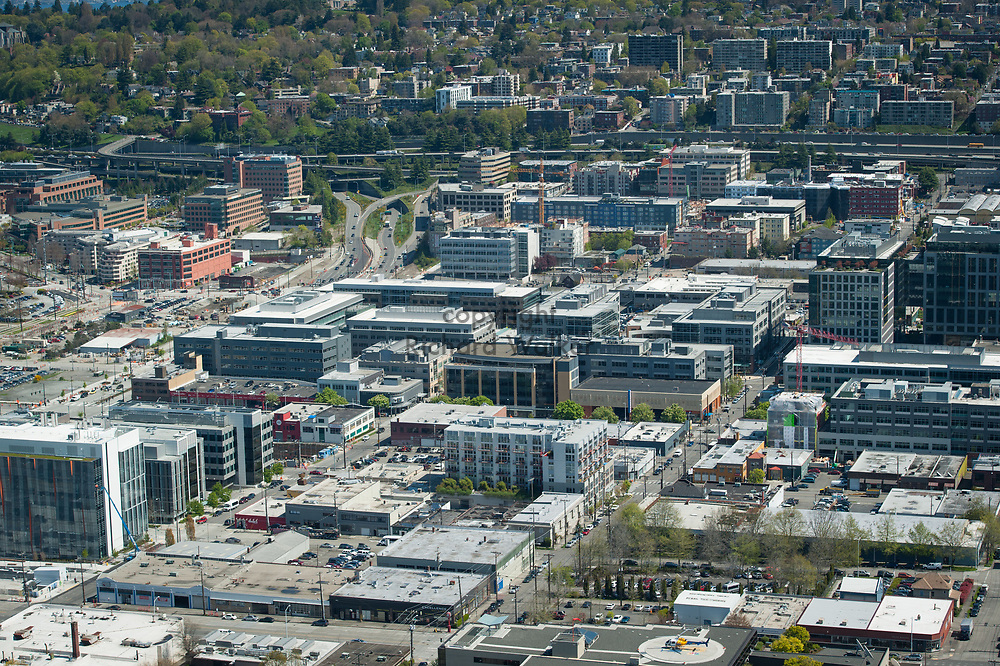 2013 April 22 - South Lake Union neighborhood as seen from the top of the Space Needle, Seattle, WA. By Richard Walker