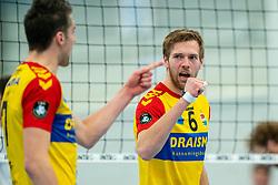Nico Manenschijn of Dynamo in action during the semi cupfinal between Sliedrecht Sport vs. Draisma Dynamo on April 03, 2021 in sports hall De Basis, Sliedrecht