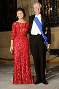 Gala dinner on the occasion of the civil wedding of Grand Duke Guillaume and Princess Stephanie at the Grand-Ducal palace in Luxembourg <br /> <br /> On the photo: Prince Nicolas and Princess Margaretha of Liechtenstein