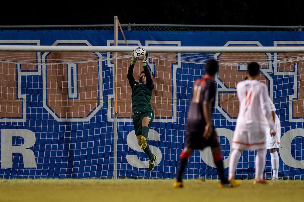 Sep 5, 2013; Morrow, GA, USA; Clayton State men's soccer player Nick Punter against Tampa at CSU. CSU won 4-1. Photo by Kevin Liles/kdlphoto.com
