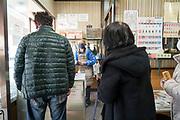 inside a small mochi gashi sweet shop Japan Yokosuka