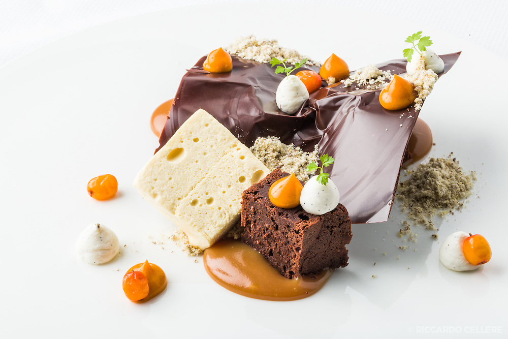 Food Photography. Creation by head pastry chef Daniel Mongraw. Toque 2016.