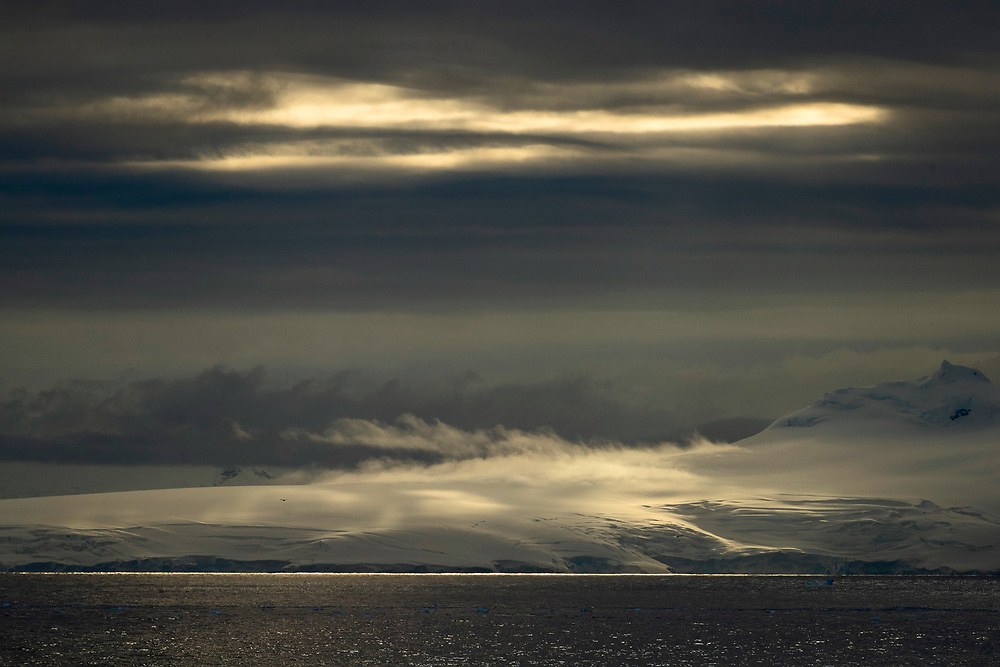View of mountains on Thursday, Feb. 8, 2018 in Antartica. (Photo by Ric Tapia)
