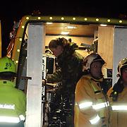 NLD/Huizen/20080108 - Verdacht pakketje gevonden Oostkade Huizen, brandweer HOVD Joop Huizing en Charles Gerkens