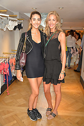 Left to right, AMBER DONOSO and her mother LISA BUTCHER at the launch of the new Salt store at 91 Walton Street, London on 7th July 2016.