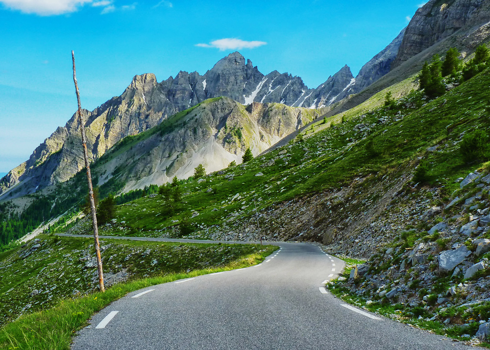 The Southern Alps of France are remote and beautiful - and laced with interesting and challenging roads.  This is the Col d'Alos.