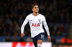 """Tottenham Hotspur's Erik Lamela during the Premier League match at the King Power Stadium, Leicester. PRESS ASSOCIATION Photo. Picture date: Tuesday November 28, 2017. See PA story SOCCER Leicester. Photo credit should read: Mike Egerton/PA Wire. RESTRICTIONS: EDITORIAL USE ONLY No use with unauthorised audio, video, data, fixture lists, club/league logos or """"live"""" services. Online in-match use limited to 75 images, no video emulation. No use in betting, games or single club/league/player publications"""