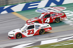July 13, 2018 - Sparta, Kentucky, United States of America - Spencer Gallagher (23) and Ross Chastain (4) battle for position during the Alsco 300 at Kentucky Speedway in Sparta, Kentucky. (Credit Image: © Chris Owens Asp Inc/ASP via ZUMA Wire)