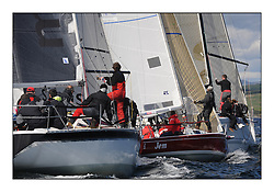 The Brewin Dolphin Scottish Series, Tarbert Loch Fyne...IRC Windward Mark with Misjif, and Jem and Argie Bargie.