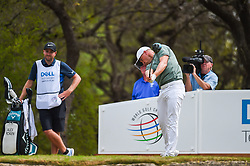 March 24, 2018 - Austin, TX, U.S. - AUSTIN, TX - MARCH 24: Alex Noren hits a tee shot during the quarterfinals of the WGC-Dell Technologies Match Play on March 24, 2018 at Austin Country Club in Austin, TX. (Photo by Daniel Dunn/Icon Sportswire) (Credit Image: © Daniel Dunn/Icon SMI via ZUMA Press)
