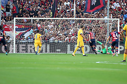 August 26, 2017 - Genoa, Liguria, Italy - Andrej Galabinov (Genoa CFC) scores a 2-0 penalty for Genoa during the Serie A football match between Genoa CFC and Juventus FC at Luigi Ferraris stadium on august 26, 2017 in Genoa, Italy. (Credit Image: © Massimiliano Ferraro/NurPhoto via ZUMA Press)
