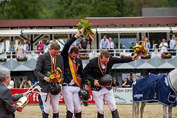 Wernke Jan (GER), Haßmann Felix (GER), Sosath Hendrik (GER)<br /> Balve - Longines Optimum 2019<br /> Siegerehrung<br /> LONGINES Optimum Preis<br /> Deutsche Meisterschaft der Springreiter<br /> Finalwertung<br /> 16. Juni 2019<br /> © www.sportfotos-lafrentz.de/Stefan Lafrentz