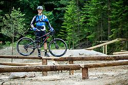 Ziga Pandur (SLO) of professional MTB Unior Tools Team during opening of Bike Park Ljubljana on June 16, 2015 in Ljubljana - Podutik, Slovenia. Photo by Vid Ponikvar / Sportida
