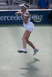 September 1, 2018 - Flushing Meadows, New York, U.S - Aliaksandra Sasnovich during his match against Naomi Osaka on Day 6 of the 2018 US Open at USTA Billie Jean King National Tennis Center on Saturday September 1, 2018 in the Flushing neighborhood of the Queens borough of New York City. Osaka defeats Sasnovich 6-0, 6-0. (Credit Image: © Prensa Internacional via ZUMA Wire)