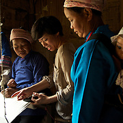Angel Cheng, a New York and Paris-based fashion designer, sources her materials from weavers in Dimen, Guizhou, China.