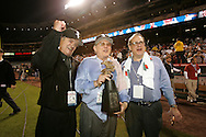 CHICAGO - OCTOBER 16: Roland Hemond, Eddie Einhorn and Jerry Reinsdorf of the Chicago White Sox celebrate after winning Game 5 of the American League Championship Series against the Los Angeles Angels of Anaheim at Angels Stadium on October 16, 2005 in Anaheim, California.  The White Sox defeated the Angels 6-3 to become American League Champions and advance to the World Series for the first time since 1959.