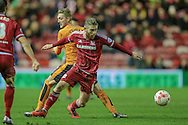 Adam Clayton (Middlesbrough) during the Sky Bet Championship match between Middlesbrough and Wolverhampton Wanderers at the Riverside Stadium, Middlesbrough, England on 4 March 2016. Photo by Mark P Doherty.