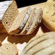 Freshly baked cut bread, UK