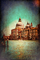 """The Basilica of Santa Maria della Salute Venice radiates in the distance on the Grand Canal""…<br />