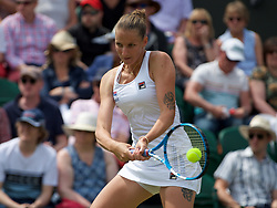 LONDON, ENGLAND - Monday, July 8, 2019: xxxx during the Ladies' Singles fourth round match on Day Seven of The Championships Wimbledon 2019 at the All England Lawn Tennis and Croquet Club. Muchova won 4-6, 7-5, 13-11. (Pic by Kirsten Holst/Propaganda)