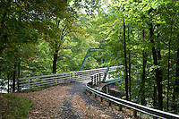 Bridge over the Miller's River, Miller's Falls, MA at the confluence with the Connecticut River.