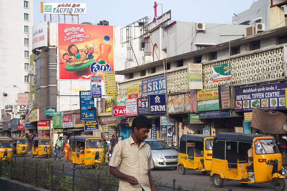Street scene in Chennai India.