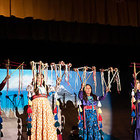 Bluff Elementary students travels all the way from Bluff, UT to perform the traditional Diné fire dance during the 46th Annual Diné Song & Dance Festival at Rock Point Community School. In Rock Point on Wednesday.