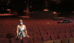 South Africa - Pretoria - 16 October 2020 - Acting head of Health and Safety, Ellen Mashiane in the Opera Theate at the State Theatre.<br />