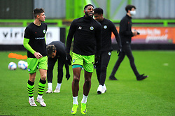 Jamille Matt of Forest Green Rovers warms up prior to kick-off - Mandatory by-line: Nizaam Jones/JMP - 14/11/2020 - FOOTBALL - innocent New Lawn Stadium - Nailsworth, England - Forest Green Rovers v Mansfield Town - Sky Bet League Two