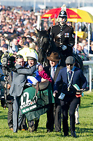National Hunt Horse Racing - 2017 Randox Grand National Festival - Saturday, Day Three [Grand National Day]<br /> <br /> Derek Fox on One For Arthur celebrates after winning  the 5.15, the Randox Health Grand National  at Aintree Racecourse.<br /> <br /> COLORSPORT/WINSTON BYNORTH<br /> <br /> <br /> <br /> <br /> <br /> <br /> <br /> <br /> <br /> <br /> National Hunt Horse Racing - 2017 Randox Grand National Festival - Saturday, Day Three [Grand National Day]<br /> <br />  in the 1st race the 1.45 Gaskells Handicap Hurdle at Aintree Racecourse.<br /> <br /> COLORSPORT/WINSTON BYNORTH