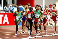 Athletics, 23. august 2003, VM Paris, World Championship in Athletics,Reuben Kosgei, Kenya,  Alexander Motone, Sør-Afrika,  Tewodros Shiferaw, Etiopia