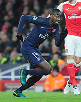 Football - 2016 / 2017 UEFA Champions League - Group A: Arsenal vs. Paris Saint-Germain<br /> <br /> Blaise Matuidi of PSG  at The Emirates.<br /> <br /> COLORSPORT/ANDREW COWIE