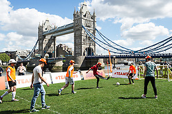 A game of Japanese Binocular Soccer on the South Bank in London.
