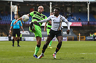 Forest Green Rovers Farrend Rawson(6) attempts to control the ball during the EFL Sky Bet League 2 match between Port Vale and Forest Green Rovers at Vale Park, Burslem, England on 23 March 2019.