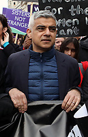 Sadiq Khan at March4Women 2020 rally at Southbank Centre on March 08, 2020 in London, England. The event is to mark International Women's Day photo by Roger Alarcon