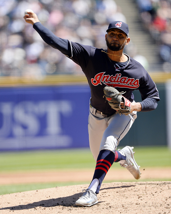 CHICAGO - APRIL 23:  Danny Salazar #31of the Cleveland Indians pitches against the Chicago White Sox on April 23, 2017 at Guaranteed Rate Field in Chicago, Illinois.  The White Sox defeated the Indians 6-2.  (Photo by Ron Vesely)   Subject:  Danny Salazar