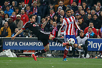 Atletico de Madrid´s Jesus Gamez (R) and Bayer 04 Leverkusen´s Calnahoglu during the UEFA Champions League round of 16 second leg match between Atletico de Madrid and Bayer 04 Leverkusen at Vicente Calderon stadium in Madrid, Spain. March 17, 2015. (ALTERPHOTOS/Victor Blanco)