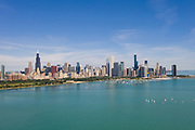 Aerial drone image of the Chicago Skyline. Photo by Mark Black