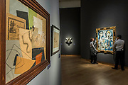 Gino Severini, <br /> La Ciociara, Est. GBP 300,000 - GBP 500,000 and Pablo Picasso, Mousquetaire et nu assis (r), Est. GBP 12,000,000 - GBP 18,000,000 -Christie's unveil an exhibition of in advance of their Impressionist and Modern sale on 27 February.