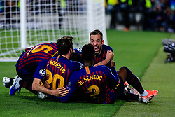 May 1, 2019 - Barcelona, BARCELONA, Spain - 10 Leo Messi of FC Barcelona celebrating his goal during the UEFA Champions League first leg match of Semi final between FC Barcelona and Liverpool FC in Camp Nou Stadium in Barcelona 01 of May of 2019, Spain. (Credit Image: © AFP7 via ZUMA Wire)