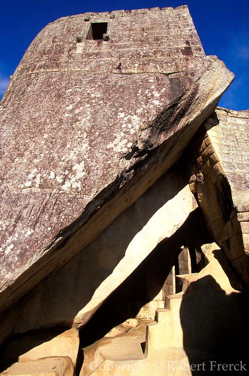 PERU, PREHISPANIC, INCA Machu Picchu; the Royal Tomb