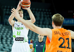 Zoran Dragic of Slovenia during basketball match between Slovenia vs Netherlands at Day 4 in Group C of FIBA Europe Eurobasket 2015, on September 8, 2015, in Arena Zagreb, Croatia. Photo by Vid Ponikvar / Sportida