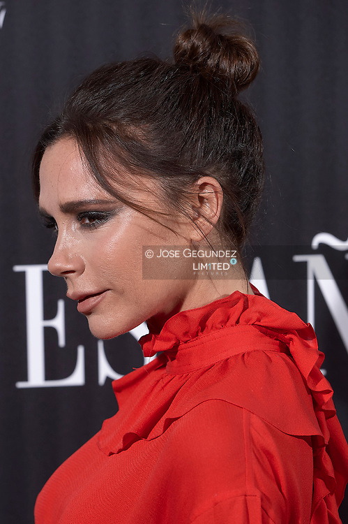 Victoria Beckham attends a Vogue Spain magazine dinner honouring Victoria Bekcham at Santo Mauro Hotel on January 18, 2018 in Madrid