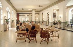 The lobby of the Hotel Sevilla in Havana; Cuba,