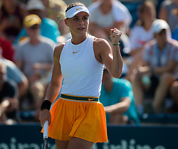 August 29, 2018 - Ana Bogdan of Romania in action during her second-round match at the 2018 US Open Grand Slam tennis tournament. New York, USA. August 29th 2018. (Credit Image: © AFP7 via ZUMA Wire)
