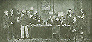 The Executive Council of the South African Republic.  This picture is made on command of the Commission appointed by the Government of the S-A Republic for arranging the Transvaal section of the World Exhibition at Paris, 1900 but could not be forwarded on account of the War having broken out.